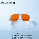 Óculos de proteção de segurança do laser, olho do laser protetor para o Ce comutado Q En207 da reunião do laser do ND YAG com frame branco