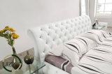 Moderne Art-Möbel-klassisches ledernes Bett für Schlafzimmer