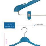 Mini colorido traje personalizado para niños ropa perchas de plástico de pantalla