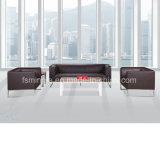 Sofà all'ingrosso dell'ufficio del cuoio della sala riunioni con la base del blocco per grafici dell'acciaio inossidabile