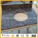 Cuisine Polished personnalisée de pierre de granit de marbre de quartz/contre- dessus de vanité de Tableau/barre