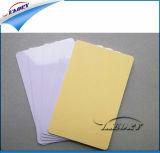 접착성 공백 백색 PVC 카드 Cr80 표준 크기