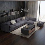 Sofá seccional moderno de la tela para el mercado de Europa
