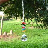Het kleurrijke Kristal Haning van Deocrs van de Kerstboom van het Glas van Suncacther van het Glas van de Achthoek