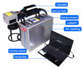 Petite machine de marquage au laser à fibre avec ordinateur de poche partie