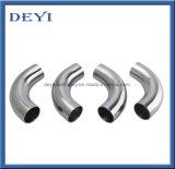 Accessorio per tubi premuto di categoria alimentare igienico sanitario del gomito della saldatura testa a testa dell'acciaio inossidabile