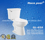 Siphonic 목욕탕 (DL-025)를 위한 내뿜는 시스템 2 조각 화장실