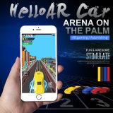 Competir con un coche verdadero de AR en el teléfono y el androide para el juego