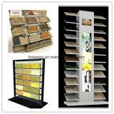 Reihen-kundenspezifische Firmenzeichen-Fliese-Ausstellungsraum-Bildschirmanzeige des Granit-und Marmor-Stein-Einzelhandelsgeschäft-Metallcountertop-4