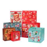 Sac de papier fait sur commande de cadeau de Noël de carton pour la promotion, sac de publicité