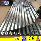 836mm de largura do teto de ferro zinco ondulado