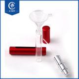 Chaud en aluminium d'atomiseur 8 ml bouteille de parfum de forme de plume avec brouillard pulvérisateur, 8 ml jaune petite bouteille de parfum