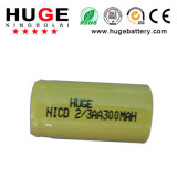 batteria Ni-CD di 1.2V 2/3AA 300mAh