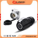 Cnlinko Lp20 PBTの防水IP65/IP67の物質的な評価されるケーブルコネクタの現在の12armsコネクター力7pin