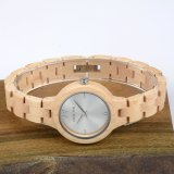 Form-Armbanduhr-hölzerne Uhr-Frauen-Größen-Quarz-Uhr
