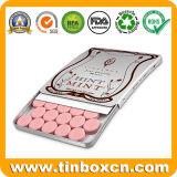 Fare scorrere il contenitore di stagno della caramella per lo scivolamento della confetteria Mint dei dolci della gomma