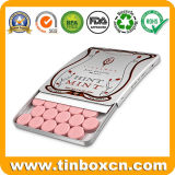 Deslice Candy Tin Box para deslizarse chicle de menta dulces dulces