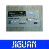 Cheap imprimé Design personnalisé gratuit adhésif Etiquette du flacon de produits pharmaceutiques
