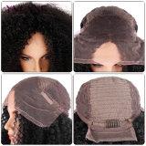 Peluca rizada del pelo humano del Afro de la peluca del frente del cordón de la densidad del 250%