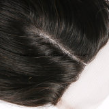 Parte central de cabello virgen 3.5*4 Cierre de encaje con el cabello del bebé