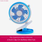 4 Zoll-Miniclip-Ventilator für den Baby-Spaziergänger angeschalten durch AA-Batterie