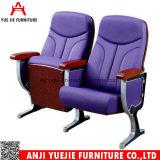 紫色ファブリックカバー木のアルミ合金の座席Yj1204p