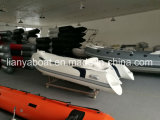 Liya 12.5FT bildete China-im populären kleinen Fiberglas-Rippen-Boot