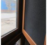 Обычная из нержавеющей стали на экране окно сетка