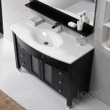 キャビネットが付いている現代固体表面の浴室の虚栄心の洗面器