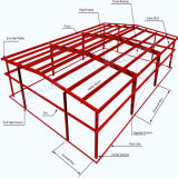 Sección H construcciones prefabricadas de acero de la construcción de acero para la fábrica, taller