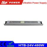 alimentazione elettrica ultra sottile di 24V 480W LED per la casella chiara