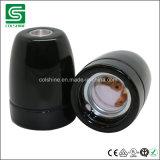 Sostenedor de la lámpara de la porcelana E27 en color negro