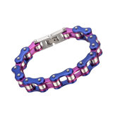 Kasten-Haken-kundenspezifisches Edelstahl-Armband-Silber-Fahrrad-Kettenarmband