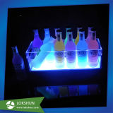 Clear LED Lighted Liquor Bottle Display for Wine Promotion