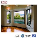Hacer pivotar hacia fuera la ventana de cristal de aluminio del obturador para el balcón