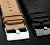 Legierungs-Kasten-Uhr PU-Leder-Uhr für Dame-beiläufige Handgelenk Soem-Uhr