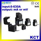 Morsetto di serie di Kct dei trasformatori correnti di memoria spaccata di Heyi sulla mini uscita di Cts 5A mA 333mv di disegno