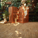 ホテルは低価格のプラスチック製のデッキの床タイルでかみ合う屋外の地上のコルクの木のフロアーリングを供給する