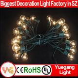 工場価格屋外か屋内装飾のためのULによって承認されるG40 LEDストリングライト