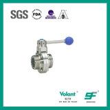 Válvula de borboleta sanitária Sfx052 da linha do aço inoxidável