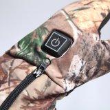 Gants Heated de pêche de chasse de batterie avec le contrôle de niveaux réel du camo 3 d'arbre de chargeur duel sec (S19C)
