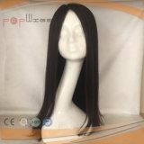 Peluca superior de seda de Sheitel del pelo humano (PPG-l-0406)