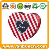 قلب شكل معدن مستحضر تجميل قصدير صندوق لأنّ أحمر شفاه
