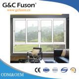 Aluminium de haute qualité en verre double auvent/Fenêtre coulissante