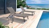 Mobilia esterna del Chaise di Sunbed della spiaggia del giardino della lega di alluminio
