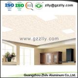 Panneau de plafond en aluminium décoratif en gros de matériau de construction avec l'enduit de PVC