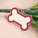 L'identificazione su ordinazione dell'animale domestico di figura di Dogbone del metallo etichetta la modifica di nome del cane