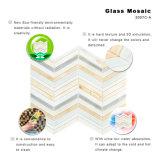 Tuile de mosaïque en verre colorée linéaire de décoration de maison de modèle d'art