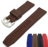 Цветные полосы просмотра 16 18 20 22 24мм силиконового каучука смотреть ремни водонепроницаемый Watchband