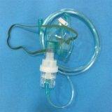 Nebulizzatore a gettare approvato del PVC di iso di vendita del Ce caldo delle attrezzature mediche con la mascherina dell'aerosol